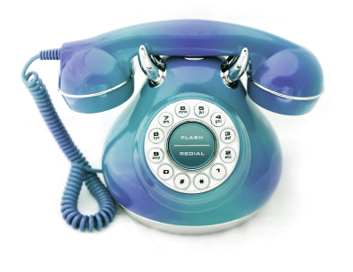 Spotted Blue Green Vintage Phone